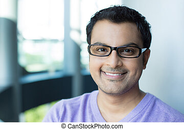 Professional smart man - Closeup headshot portrait, smiling...