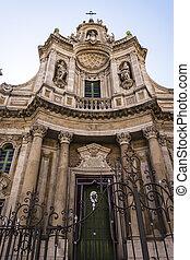 Basilica della Collegiata, Catania, Sicily, Italy - Basilica...