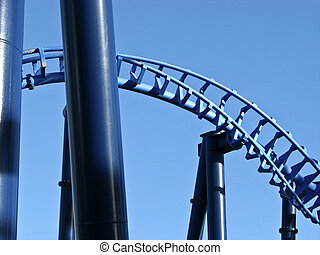 Roller coaster construction - steel roller coaster...