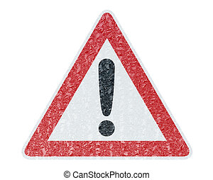Ice Covered Warning Sign - Caution - Winter Driving - Ice...