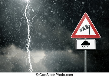 Bad Weather - Caution - Bad weather - caution - risk of...