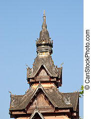 Tower at Wat Sisaket in Vientiane, Laos