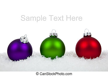 Christmas ornamentsbaubles on white - Christmas ornaments...