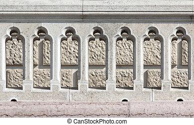 railing - Medieval fancy lime stone railing