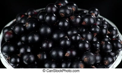 Black Currants in a Glass - Zoom in Camera on Black Currants...