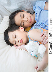 Asia child sleeping