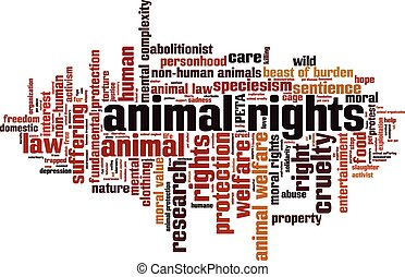 Animal rights Convertedeps - Animal rights word cloud...