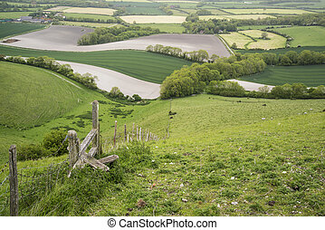 Rolling English countryside landsca