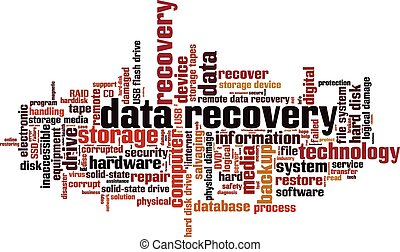 Data recovery [Converted].eps - Data recovery word cloud...