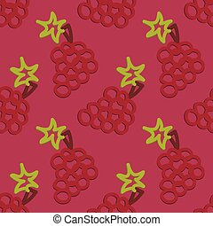 Grape Seamless Pattern Kid's Style  Hand Drawn