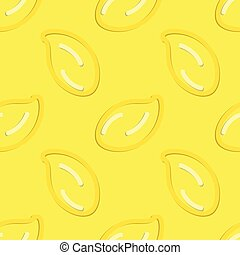 Lemon Seamless Pattern Kid's Style Hand Drawn