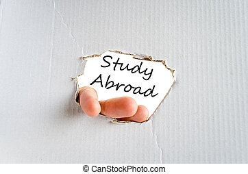 Study abroad text concept