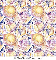 Paradise Floral Motif Vector Texture