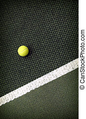 Tennis ball - Tennis compositon Yellow ball, lines and court...