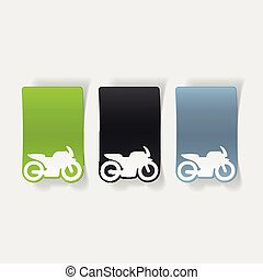Vector Clip Art of realistic design element: motorcycle ...