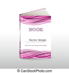 Book Cover - Vector abstract layout as book cover Abstract...
