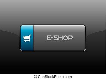 E-Shop Button - Simple buttons E-SHOP with color space for...
