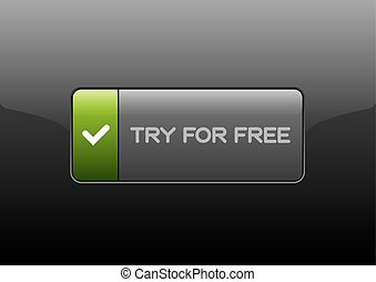 Free Trial Button - Simple button FREE TRIAL with color...