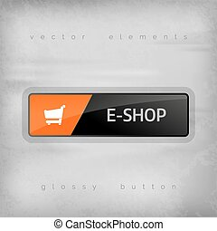 E-Shop Button - Modern buttons E-SHOP with color space for...