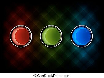 RGB - Three glossy buttons as RGB colors Red green and blue...