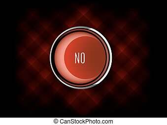 No Button - Chrome buttons NO with plastic elements Vector...
