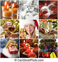Christmas collage - Beautiful christmas collage made from...