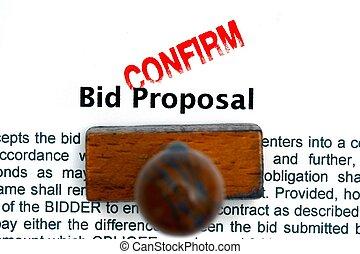 Bid proposal confirm