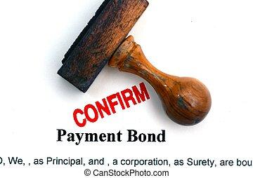 Payment bond confirm