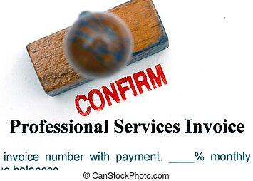 Service invoice confirm