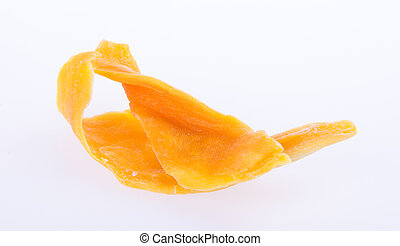 mango dry or dried mango slices on background - mango dry or...