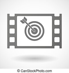 35mm film frame with a dart board - Illustration of a 35mm...