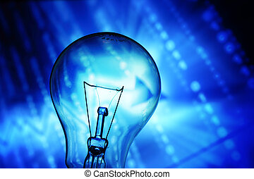 abstract bulb - bulb on abstract background macro close