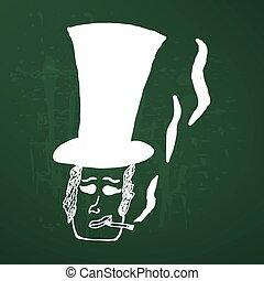 retro smoking man