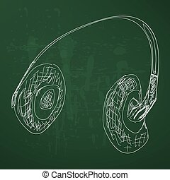 sketch headphones