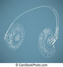 sketch headphones
