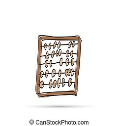 Wooden abacus sketch.