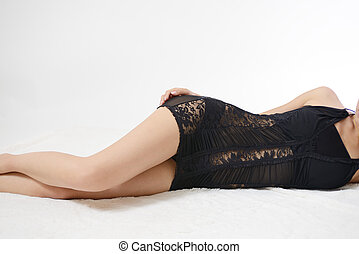 Sexy woman in black lingerie - Sexy Underwear Lady black....