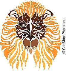 lion tattoo vector made in eps
