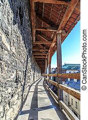 Tallin Walls - TALLINN, ESTONIA - APRIL 25, 2015 : Close up...