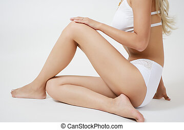 Sexy woman body - Sexy Attractive young woman in white...