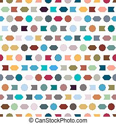 Seamless pattern with simple geometric shapes