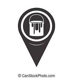 Map Pointer Paint Can Icon