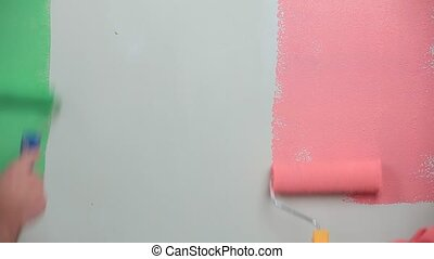 Paint The Walls In Two Colors