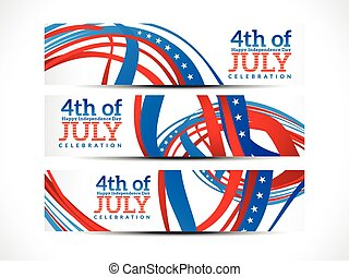 abstract fourth july banners.eps - abstract fourth july...