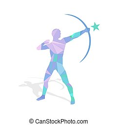 Abstract Bowman - Abstract archer figure, illustration of...