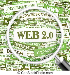 WEB 20 Word cloud concept illustration Wordcloud collage