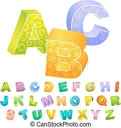 ABC - 3d alphabet ABC text illustration