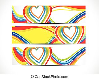abstract colorful love web bannerseps - abstract artistic...