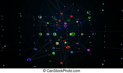 Network structure. Loop animation.