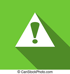 exclamation sign flat icon warning sign alert symbol